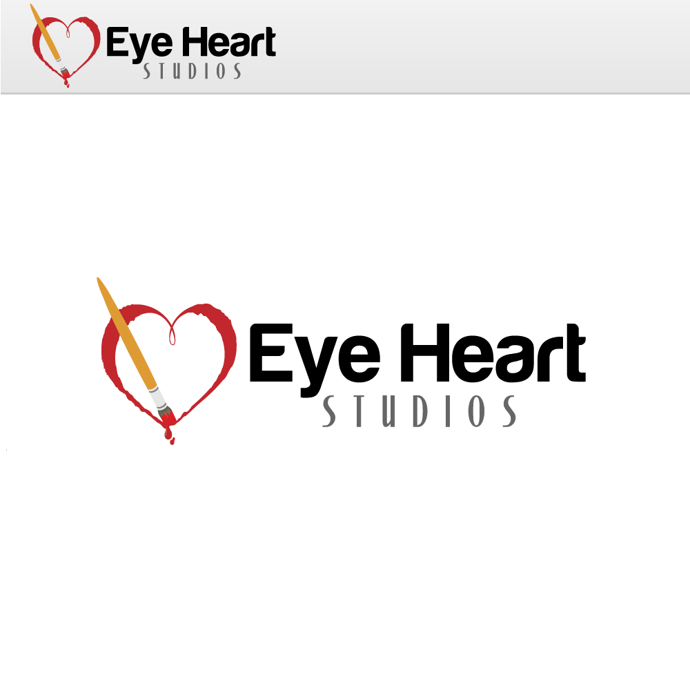 Logo Design by rockin - Entry No. 12 in the Logo Design Contest Unique Logo Design Wanted for Eye Heart Studios.