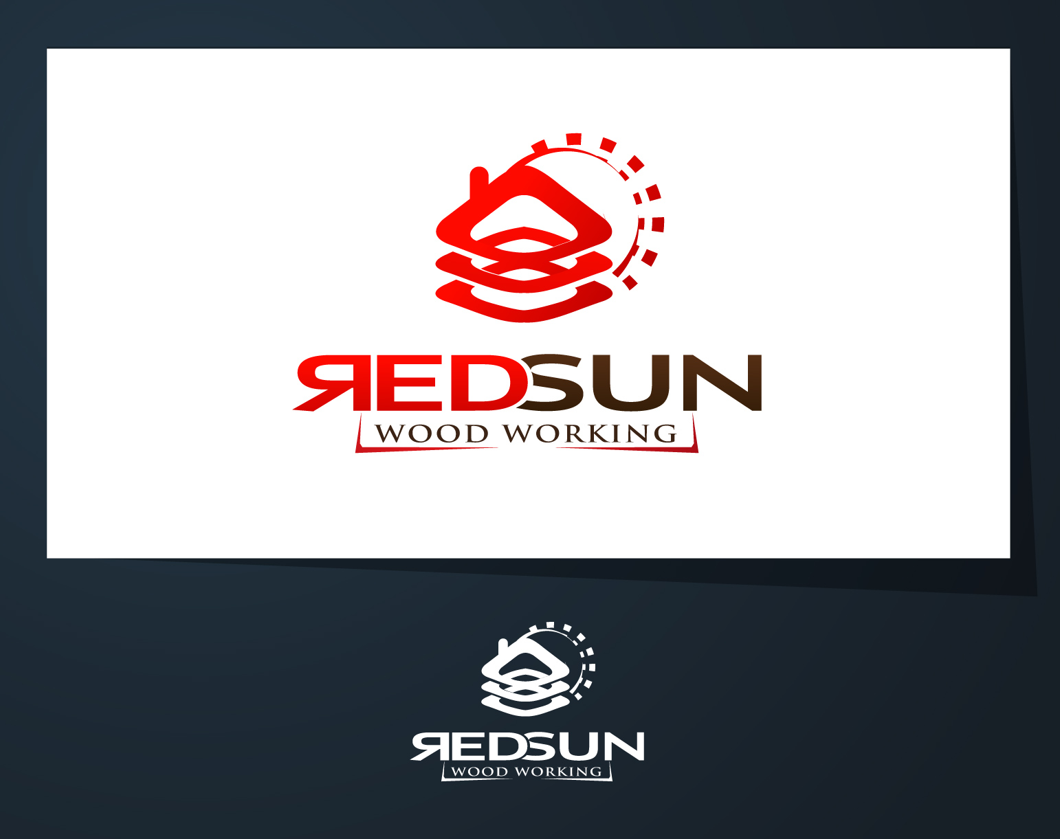 Logo Design by Mikhail Aldonza - Entry No. 136 in the Logo Design Contest Red Sun Woodworking Logo Design.