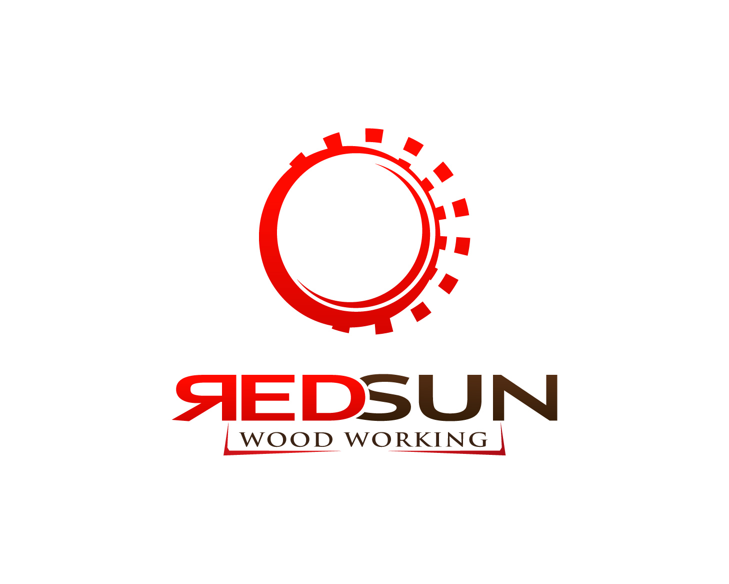 Logo Design by Mikhail Aldonza - Entry No. 137 in the Logo Design Contest Red Sun Woodworking Logo Design.