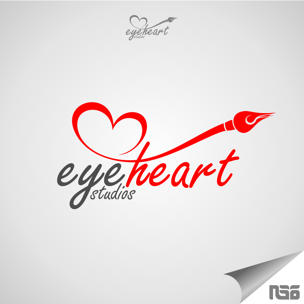 Image Gallery Heart Logo Design