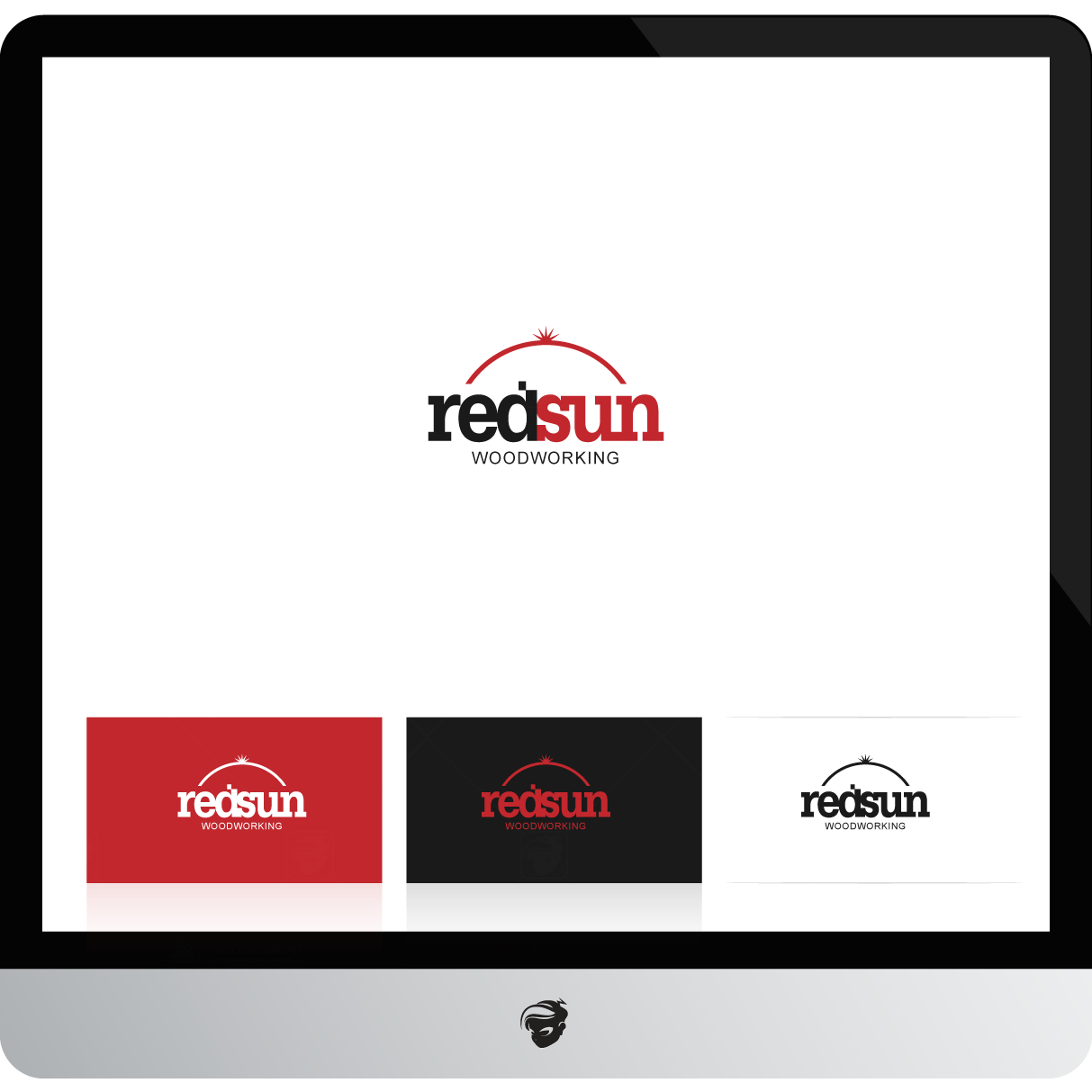 Logo Design by zesthar - Entry No. 152 in the Logo Design Contest Red Sun Woodworking Logo Design.