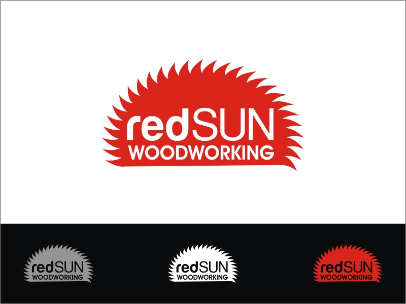 Logo Design by RED HORSE design studio - Entry No. 162 in the Logo Design Contest Red Sun Woodworking Logo Design.
