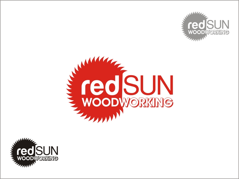 Logo Design by RED HORSE design studio - Entry No. 163 in the Logo Design Contest Red Sun Woodworking Logo Design.