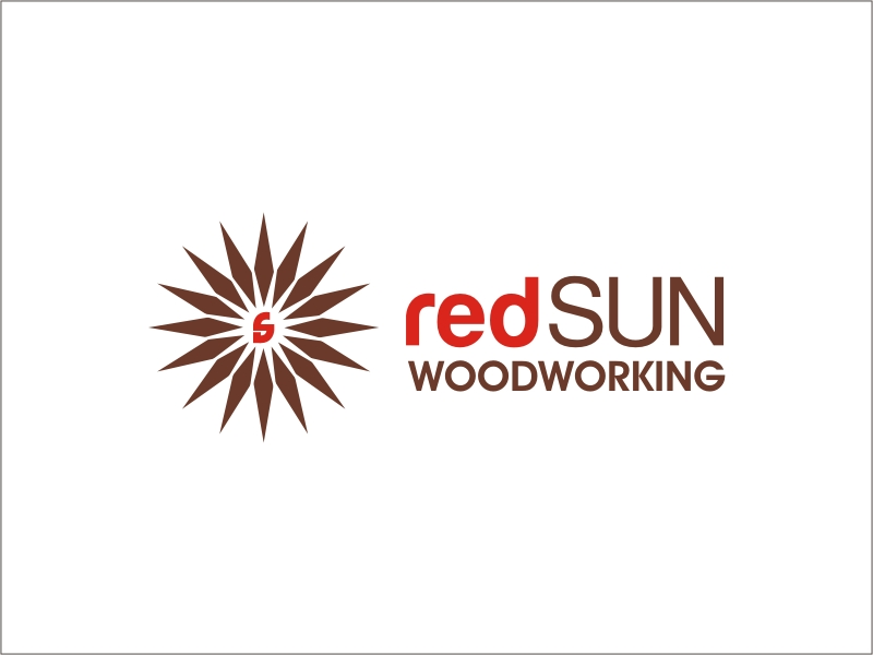 Logo Design by RED HORSE design studio - Entry No. 164 in the Logo Design Contest Red Sun Woodworking Logo Design.