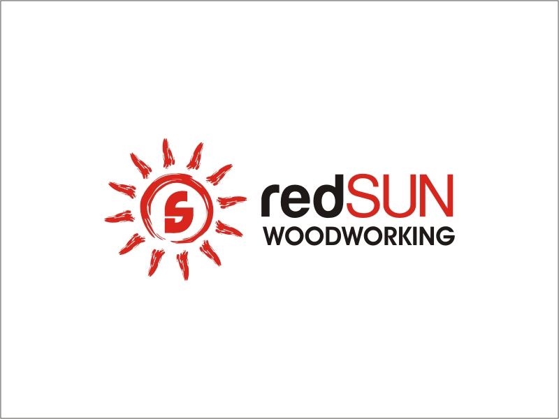 Logo Design by RED HORSE design studio - Entry No. 165 in the Logo Design Contest Red Sun Woodworking Logo Design.