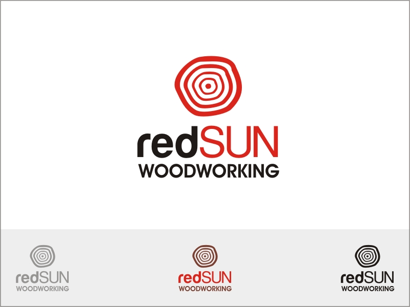 Logo Design by RED HORSE design studio - Entry No. 166 in the Logo Design Contest Red Sun Woodworking Logo Design.