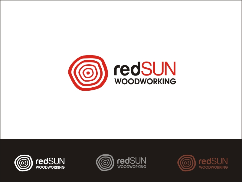 Logo Design by RED HORSE design studio - Entry No. 167 in the Logo Design Contest Red Sun Woodworking Logo Design.
