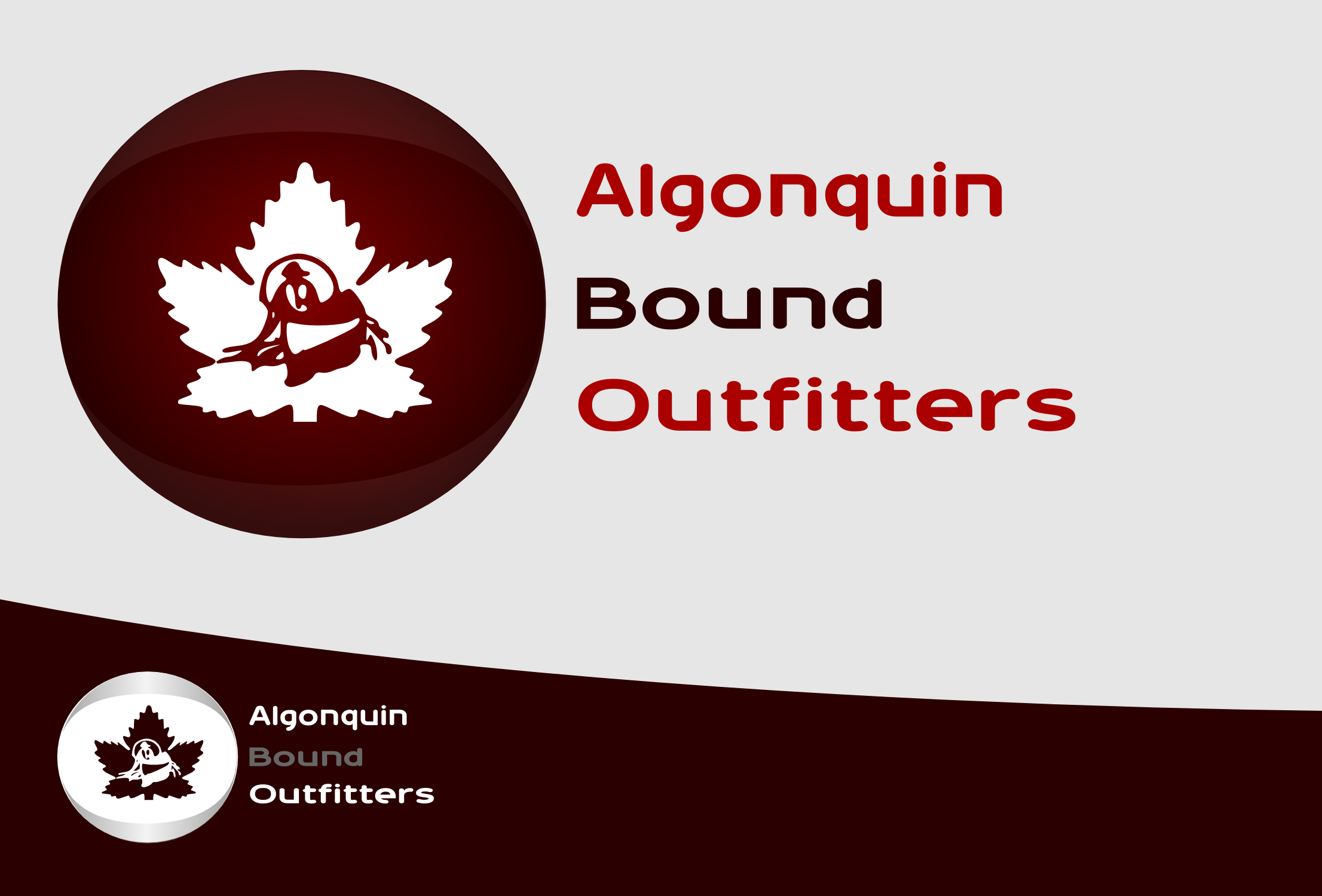 Logo Design by Arindam Khanda - Entry No. 14 in the Logo Design Contest Captivating Logo Design for Algonquin Bound Outfitters.