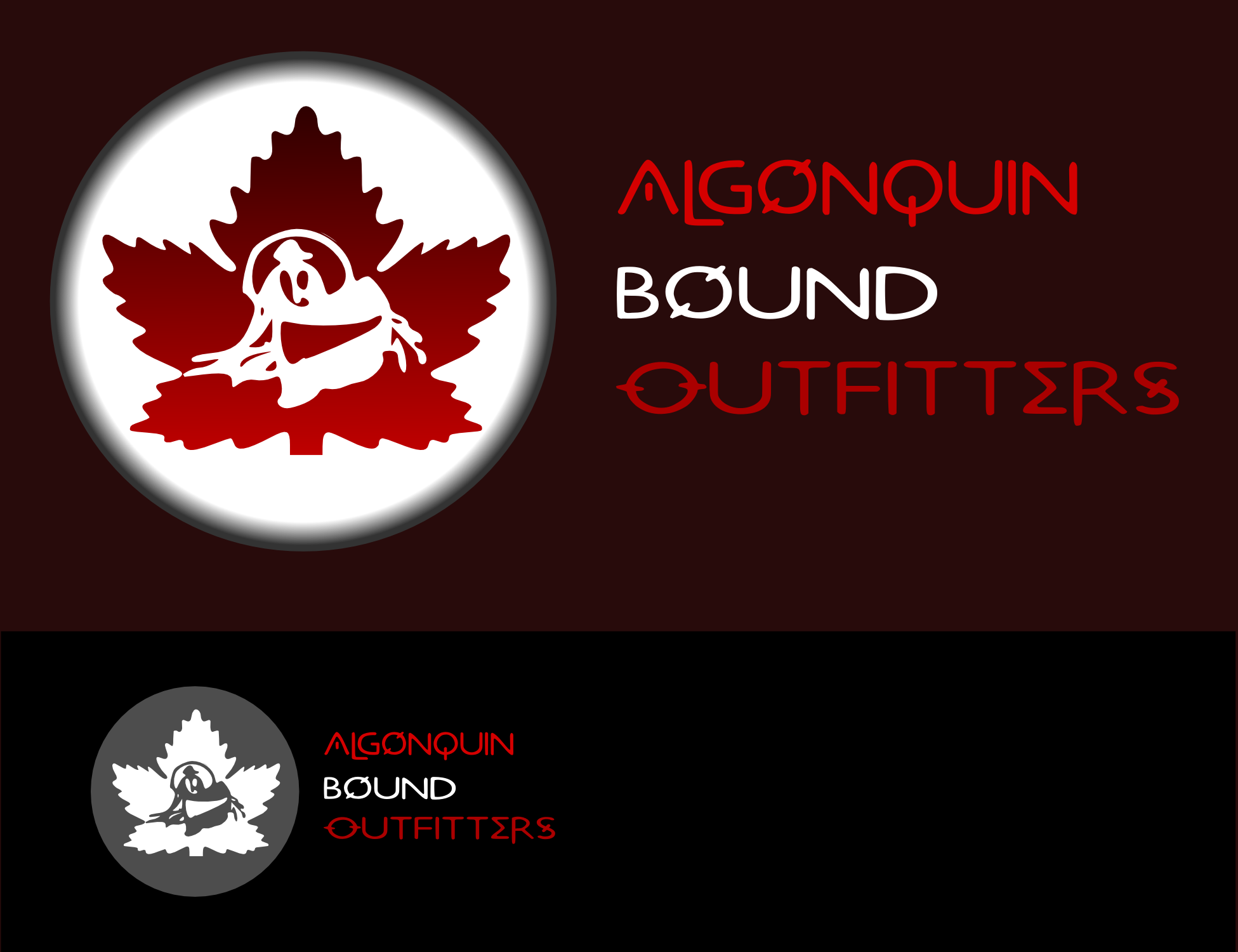 Logo Design by Arindam Khanda - Entry No. 28 in the Logo Design Contest Captivating Logo Design for Algonquin Bound Outfitters.