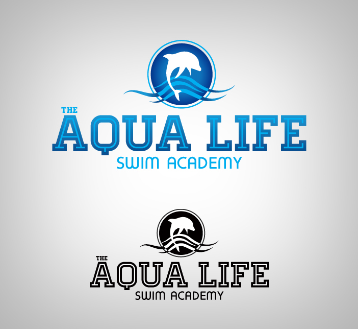 Logo Design by nausigeo - Entry No. 14 in the Logo Design Contest Artistic Logo Design Wanted for The Aqua Life Swim Academy.