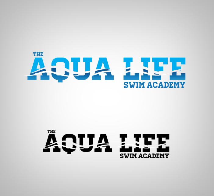 Logo Design by nausigeo - Entry No. 15 in the Logo Design Contest Artistic Logo Design Wanted for The Aqua Life Swim Academy.