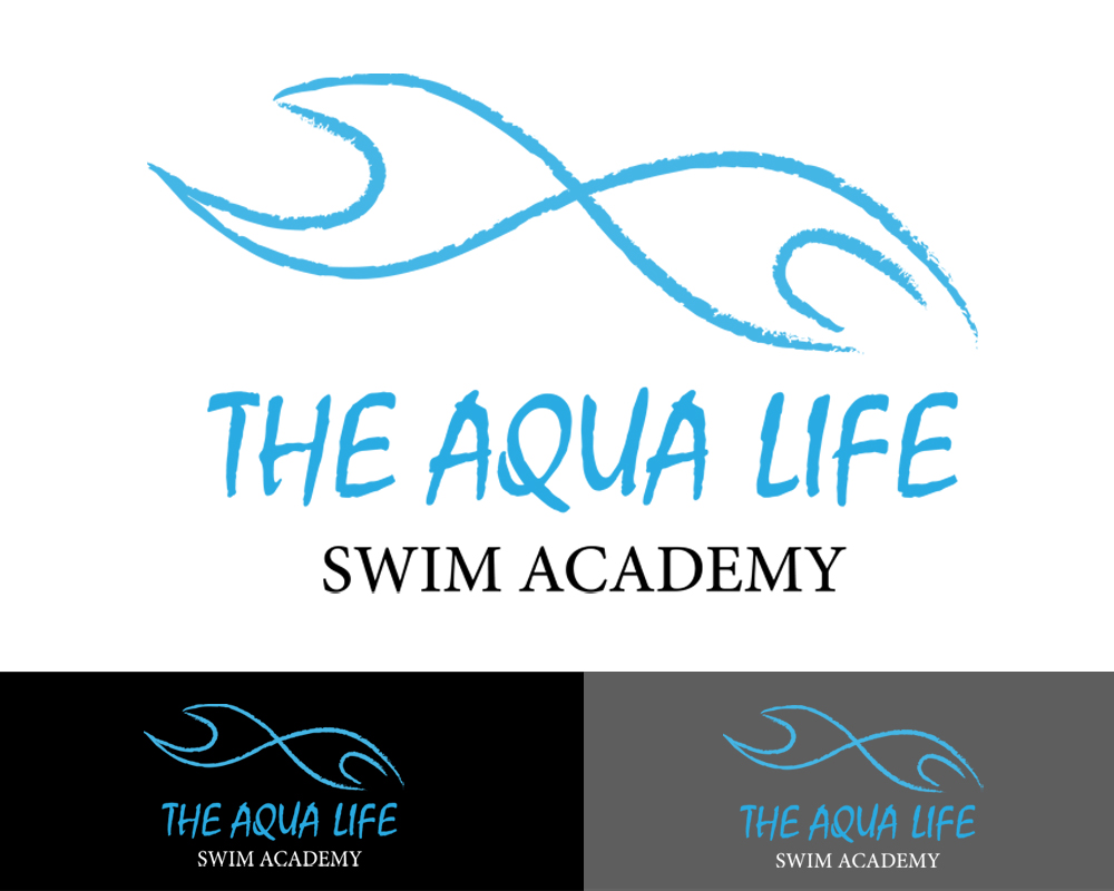Logo Design by Butz Udy - Entry No. 22 in the Logo Design Contest Artistic Logo Design Wanted for The Aqua Life Swim Academy.