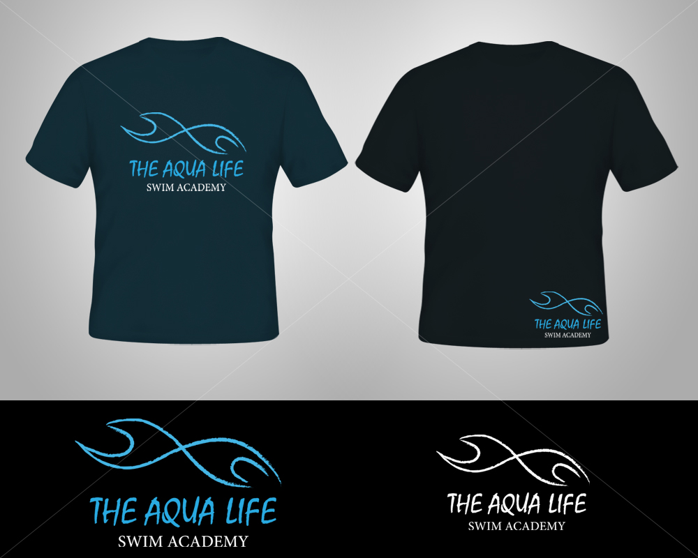 Logo Design by Butz Udy - Entry No. 23 in the Logo Design Contest Artistic Logo Design Wanted for The Aqua Life Swim Academy.