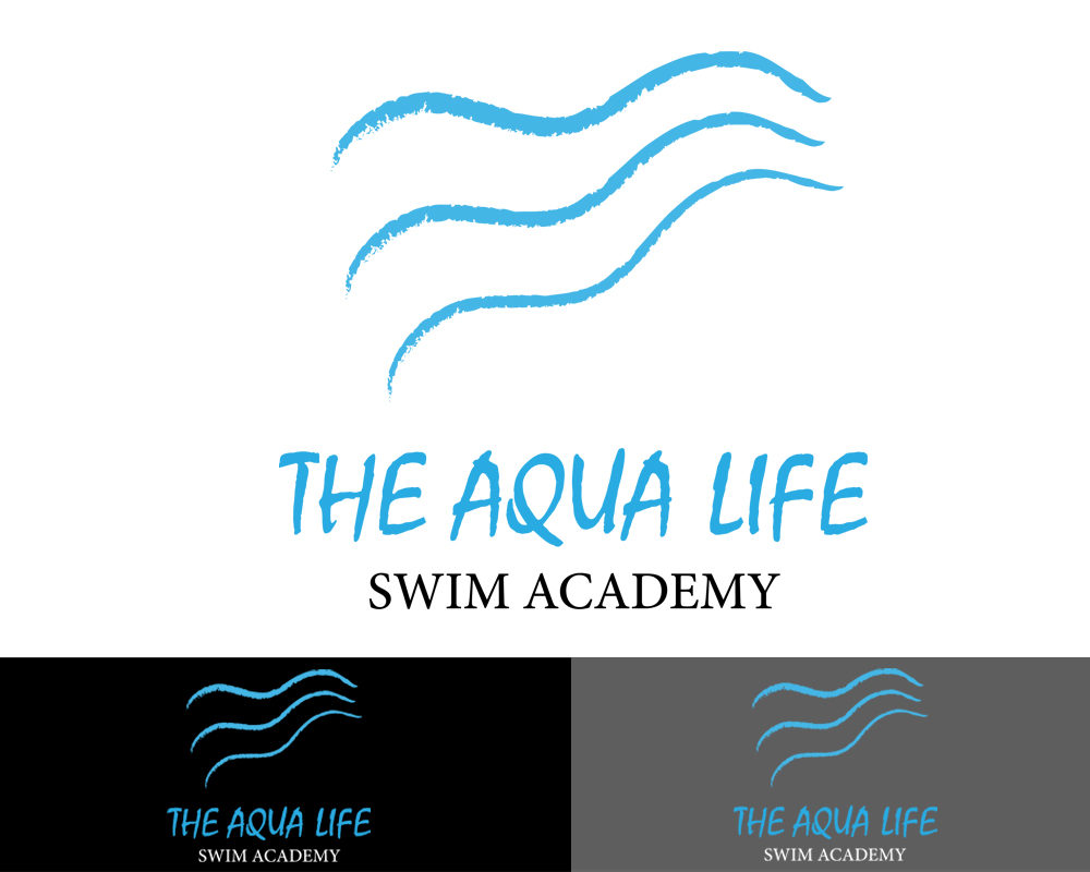 Logo Design by Butz Udy - Entry No. 25 in the Logo Design Contest Artistic Logo Design Wanted for The Aqua Life Swim Academy.
