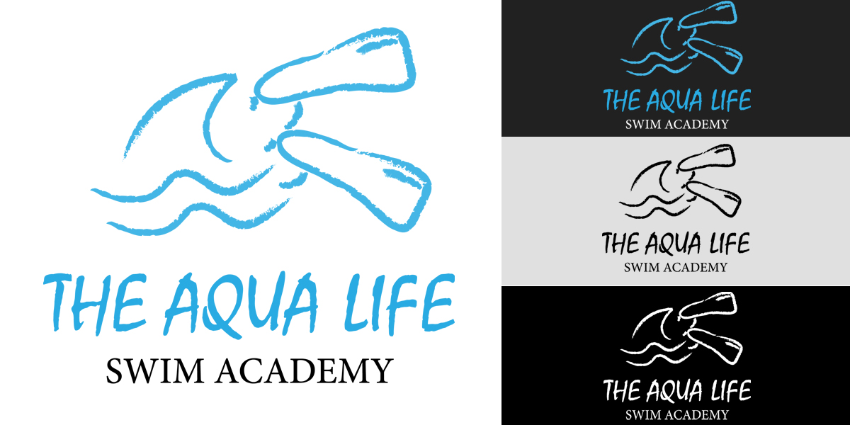Logo Design by Butz Udy - Entry No. 36 in the Logo Design Contest Artistic Logo Design Wanted for The Aqua Life Swim Academy.