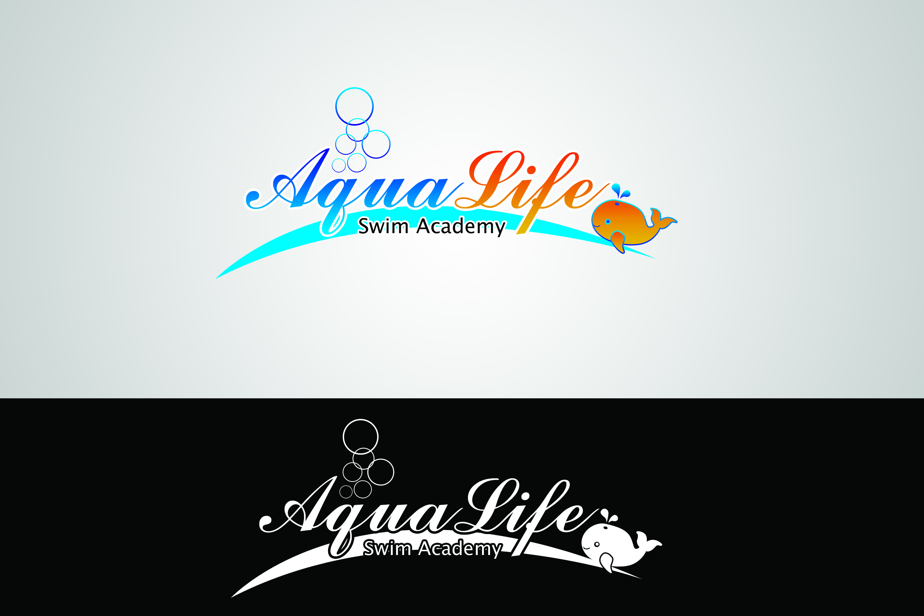Logo Design by Private User - Entry No. 38 in the Logo Design Contest Artistic Logo Design Wanted for The Aqua Life Swim Academy.
