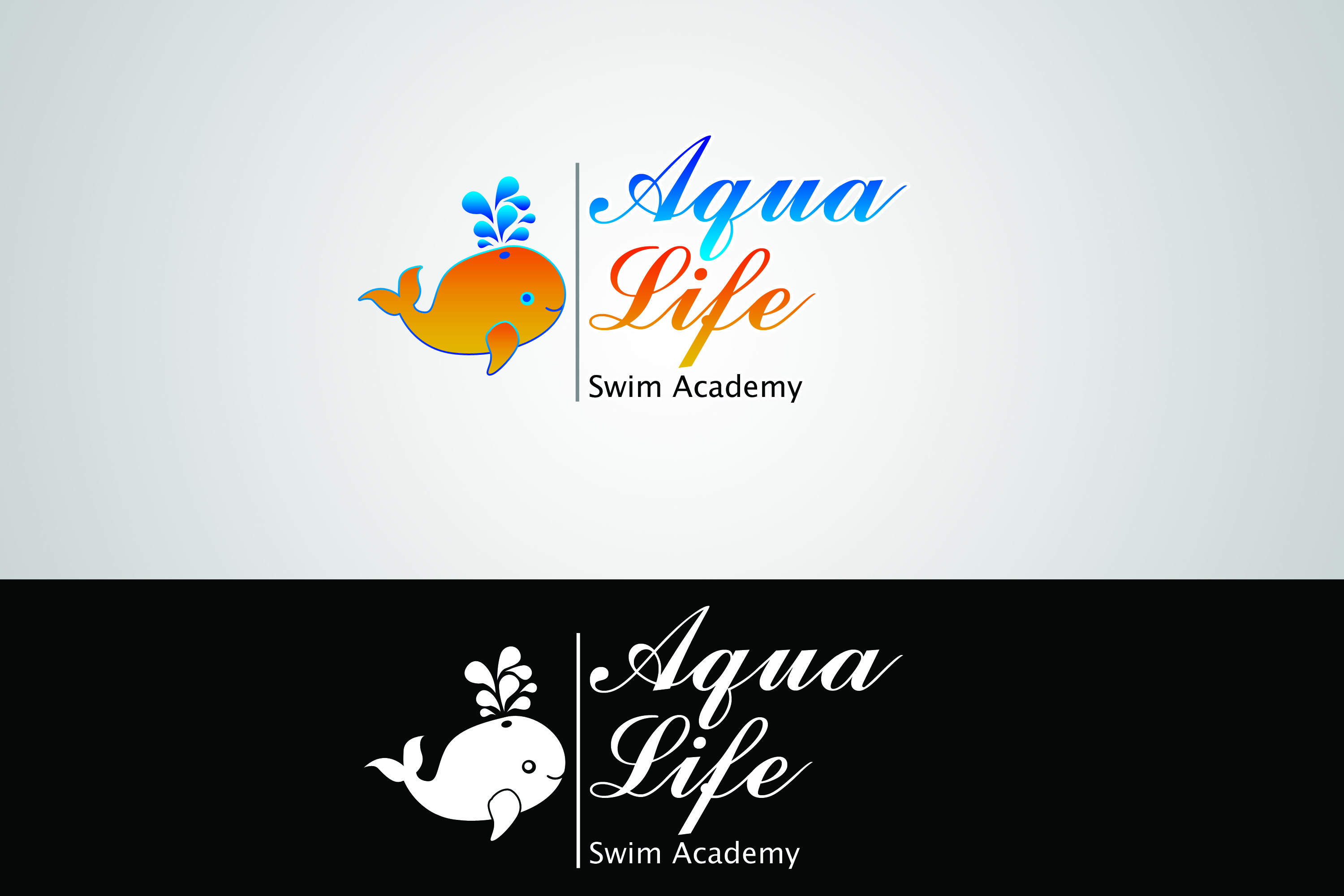 Logo Design by Private User - Entry No. 39 in the Logo Design Contest Artistic Logo Design Wanted for The Aqua Life Swim Academy.