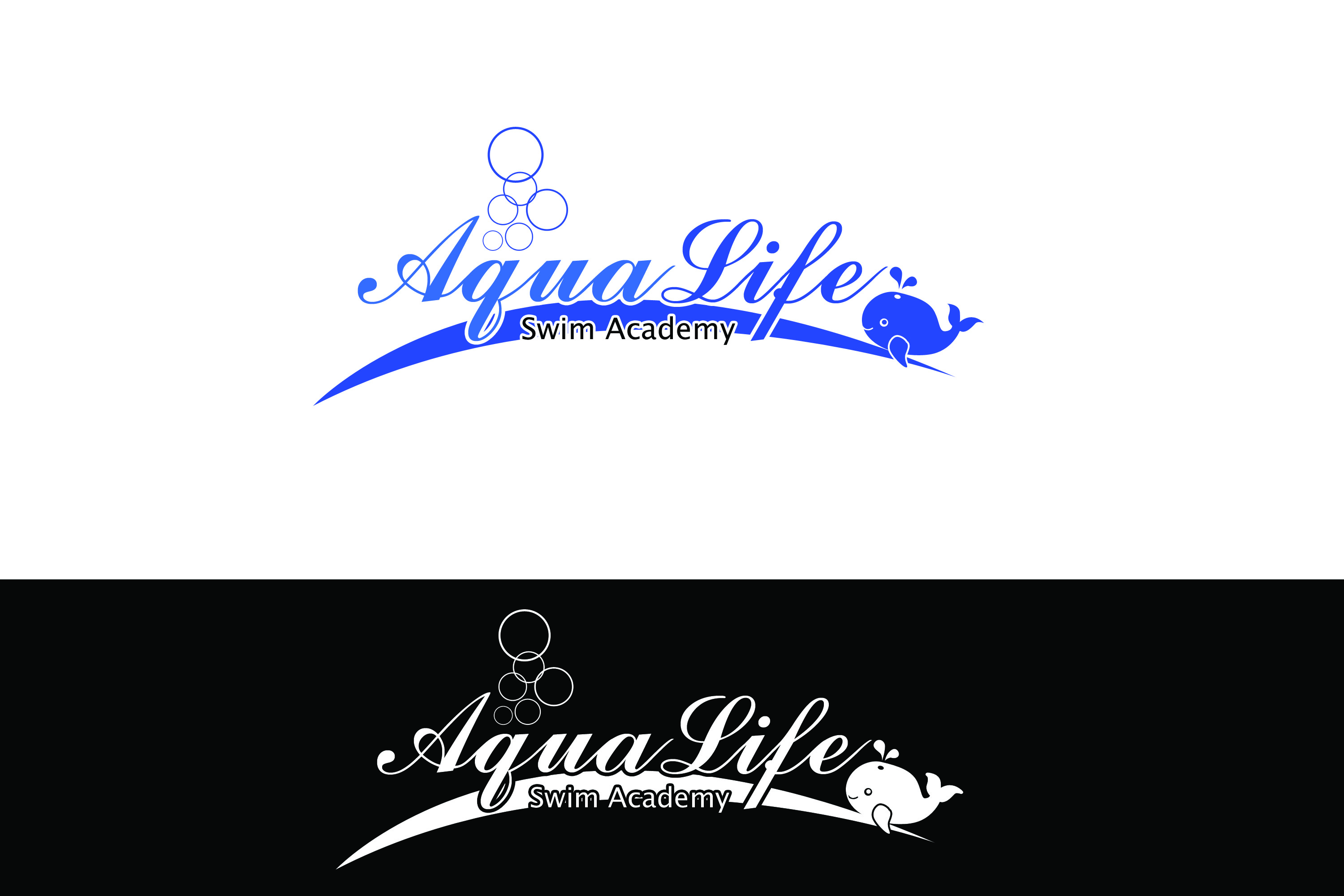 Logo Design by Private User - Entry No. 40 in the Logo Design Contest Artistic Logo Design Wanted for The Aqua Life Swim Academy.