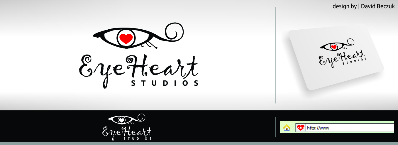 Logo Design by David Beczuk - Entry No. 126 in the Logo Design Contest Unique Logo Design Wanted for Eye Heart Studios.