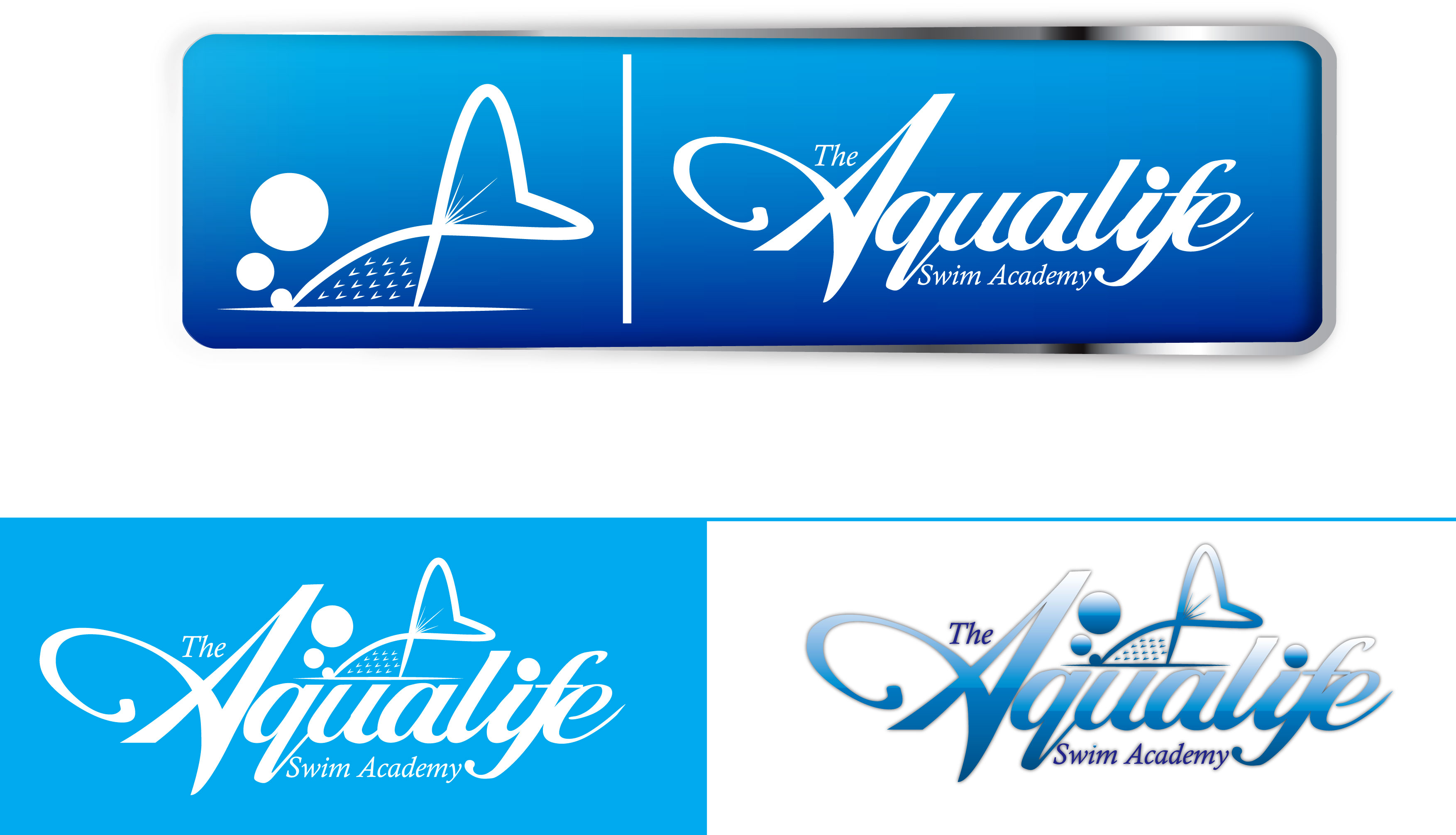 Logo Design by Dit Pambudi - Entry No. 46 in the Logo Design Contest Artistic Logo Design Wanted for The Aqua Life Swim Academy.