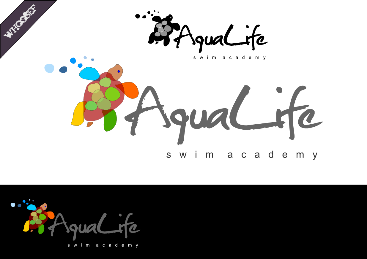 Logo Design by whoosef - Entry No. 49 in the Logo Design Contest Artistic Logo Design Wanted for The Aqua Life Swim Academy.