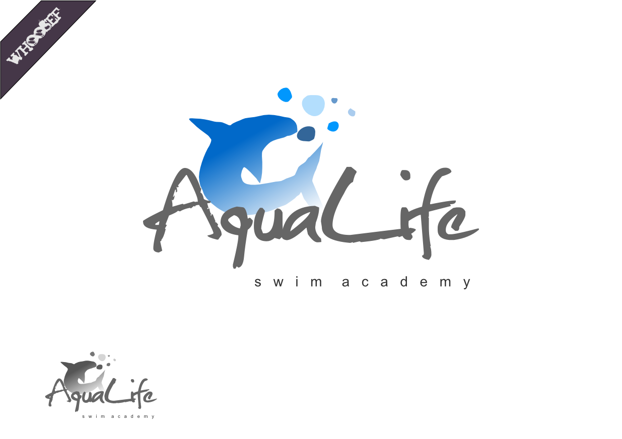Logo Design by whoosef - Entry No. 51 in the Logo Design Contest Artistic Logo Design Wanted for The Aqua Life Swim Academy.