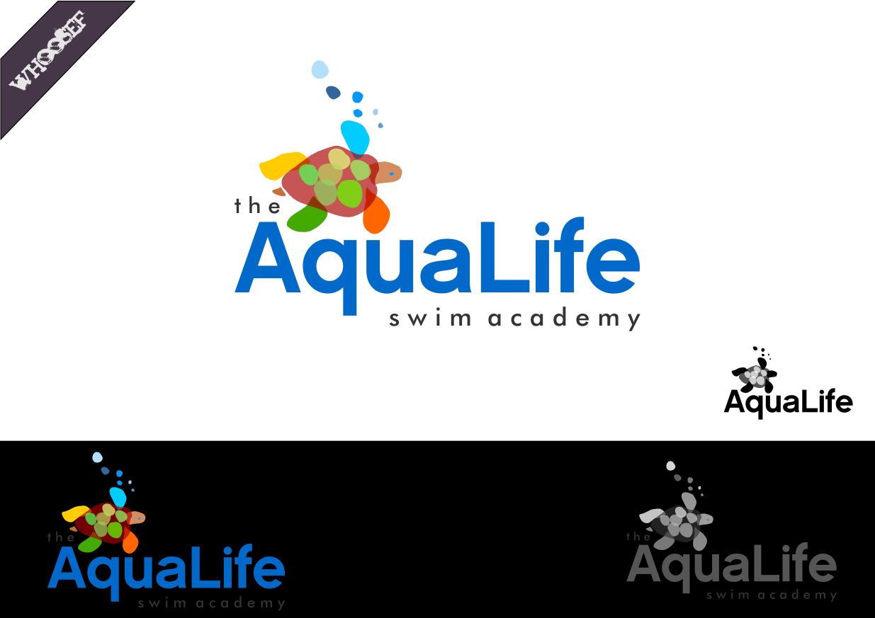 Logo Design by whoosef - Entry No. 58 in the Logo Design Contest Artistic Logo Design Wanted for The Aqua Life Swim Academy.