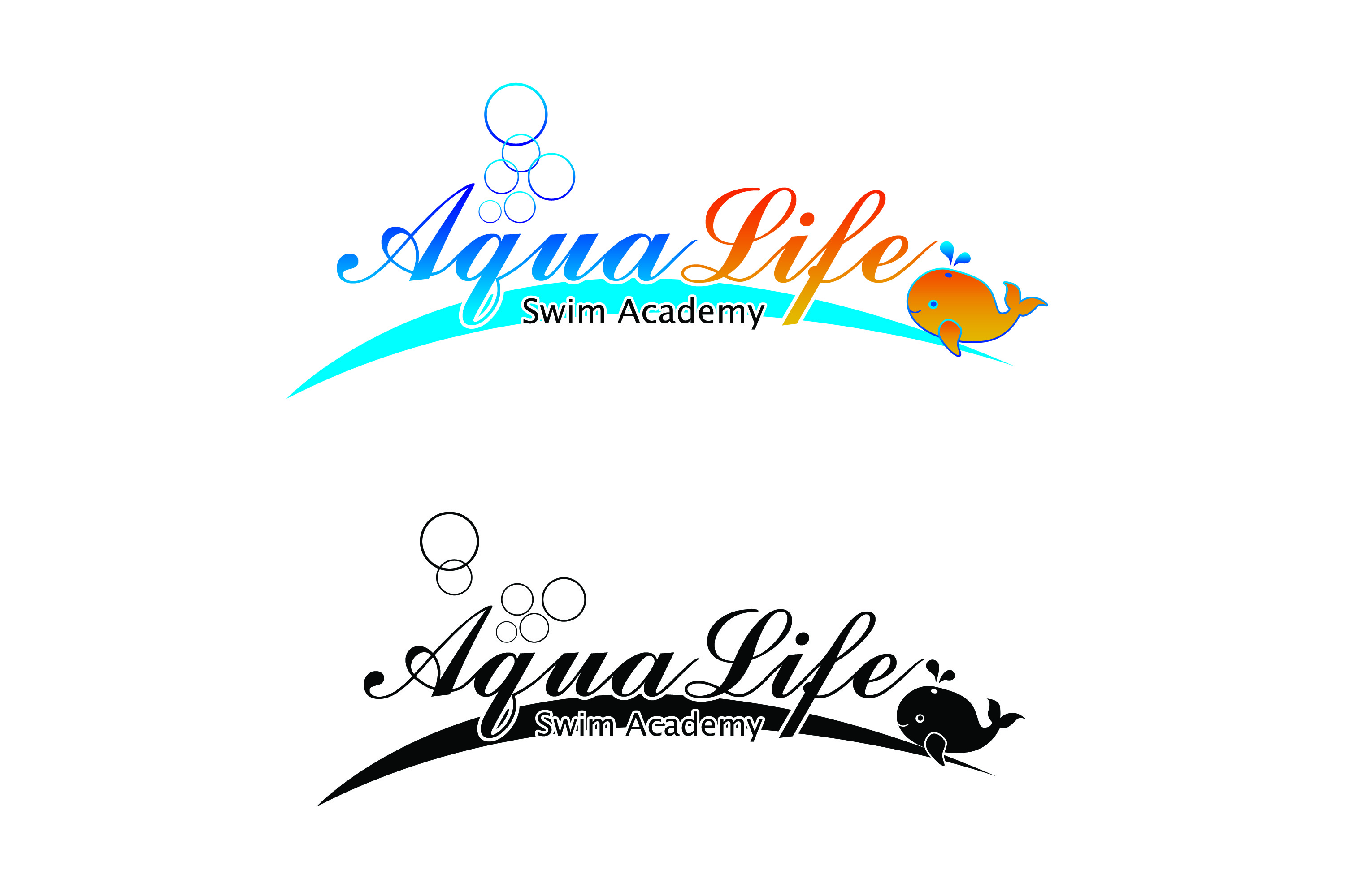 Logo Design by Private User - Entry No. 62 in the Logo Design Contest Artistic Logo Design Wanted for The Aqua Life Swim Academy.