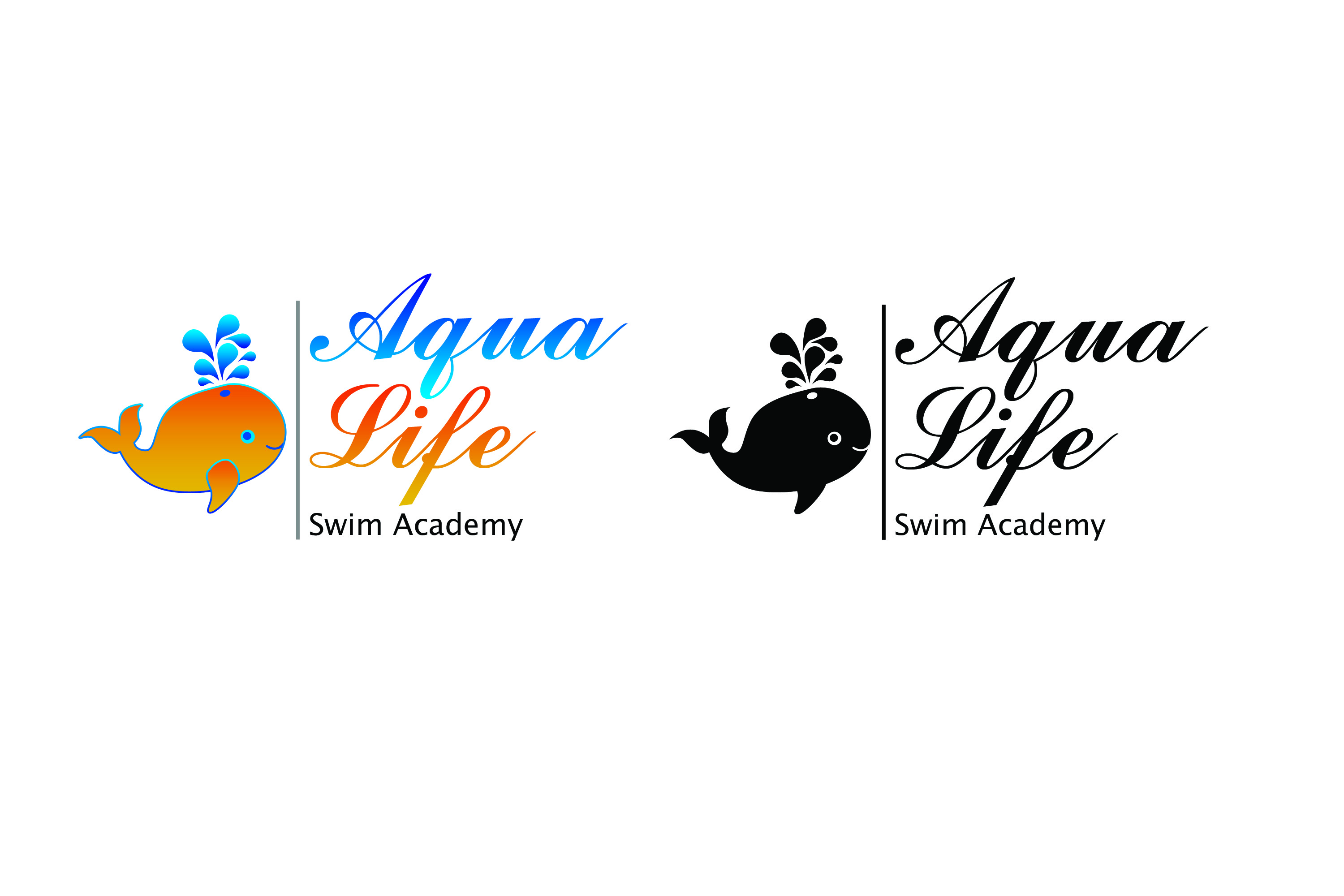 Logo Design by Private User - Entry No. 63 in the Logo Design Contest Artistic Logo Design Wanted for The Aqua Life Swim Academy.