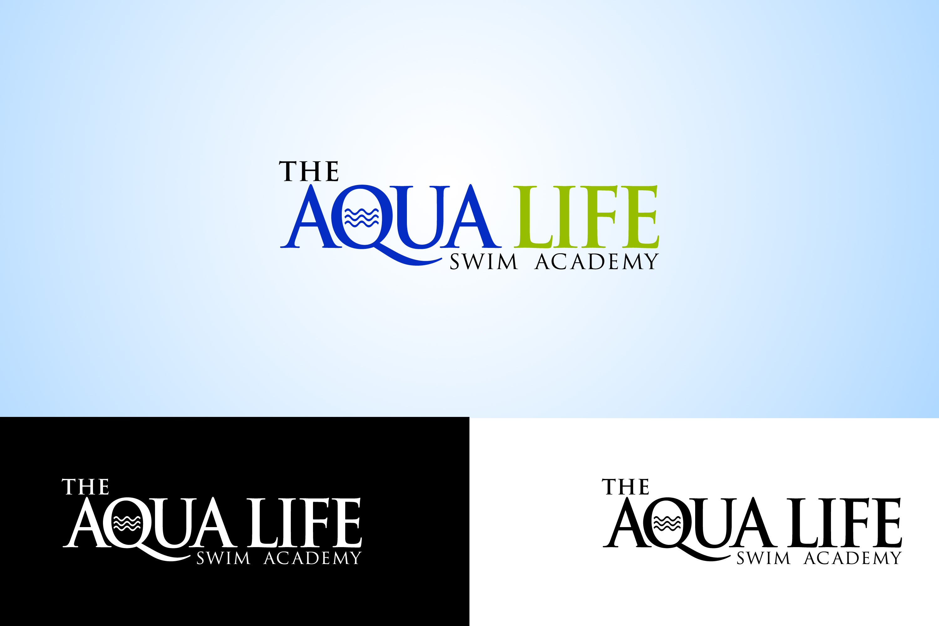 Logo Design by Private User - Entry No. 64 in the Logo Design Contest Artistic Logo Design Wanted for The Aqua Life Swim Academy.