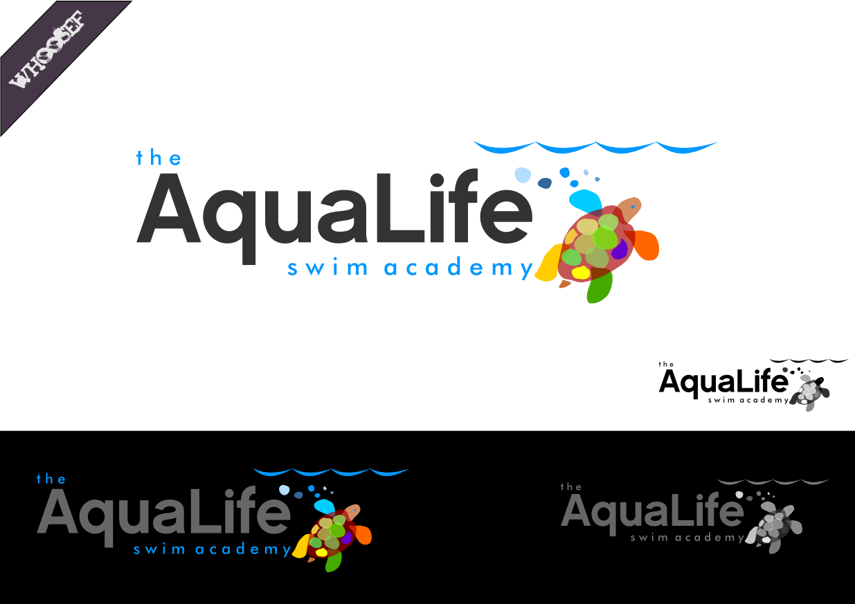 Logo Design by whoosef - Entry No. 66 in the Logo Design Contest Artistic Logo Design Wanted for The Aqua Life Swim Academy.