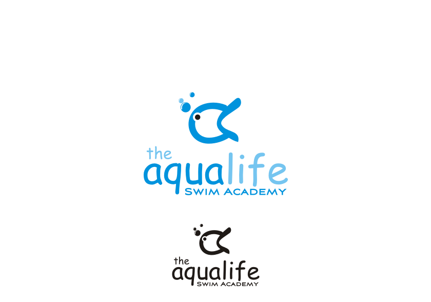 Logo Design by graphicleaf - Entry No. 69 in the Logo Design Contest Artistic Logo Design Wanted for The Aqua Life Swim Academy.