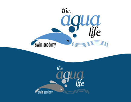Logo Design by Private User - Entry No. 75 in the Logo Design Contest Artistic Logo Design Wanted for The Aqua Life Swim Academy.