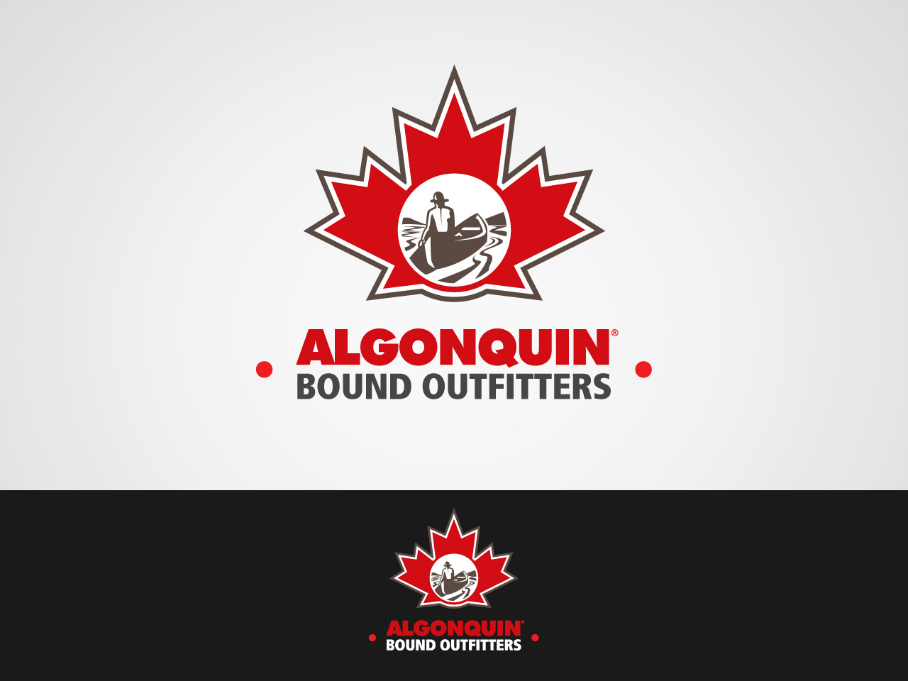 Logo Design by jpbituin - Entry No. 58 in the Logo Design Contest Captivating Logo Design for Algonquin Bound Outfitters.
