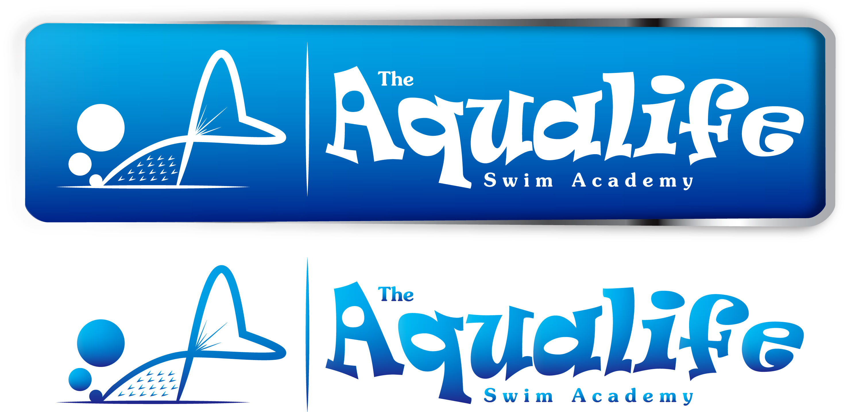 Logo Design by Dit Pambudi - Entry No. 77 in the Logo Design Contest Artistic Logo Design Wanted for The Aqua Life Swim Academy.