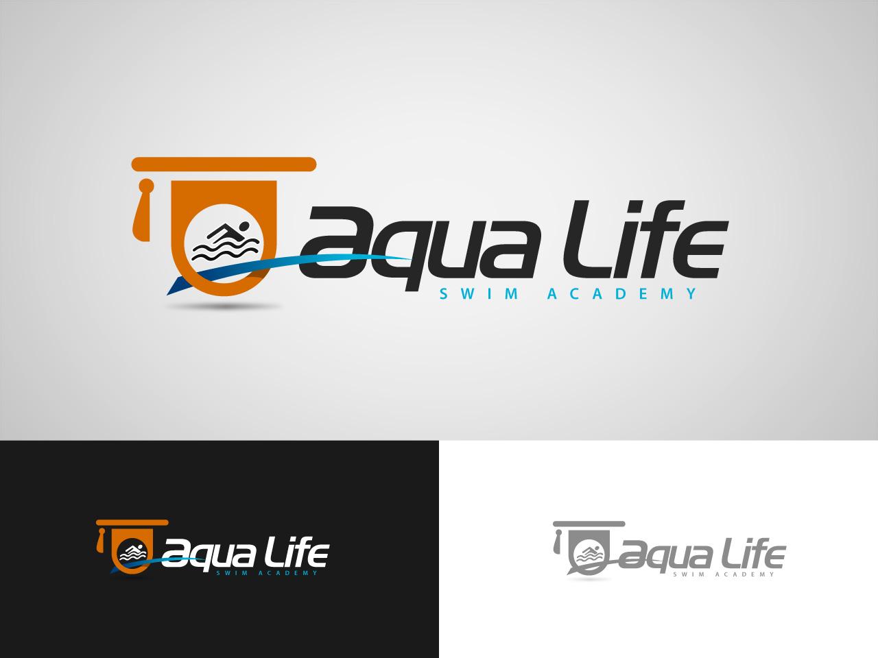 Logo Design by jpbituin - Entry No. 78 in the Logo Design Contest Artistic Logo Design Wanted for The Aqua Life Swim Academy.