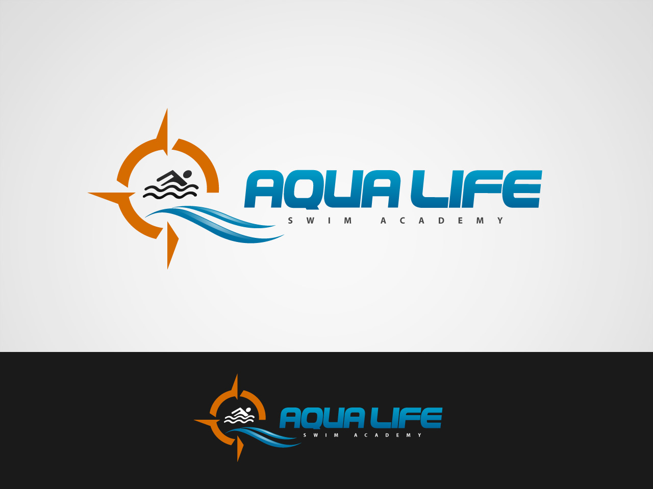 Logo Design by jpbituin - Entry No. 79 in the Logo Design Contest Artistic Logo Design Wanted for The Aqua Life Swim Academy.