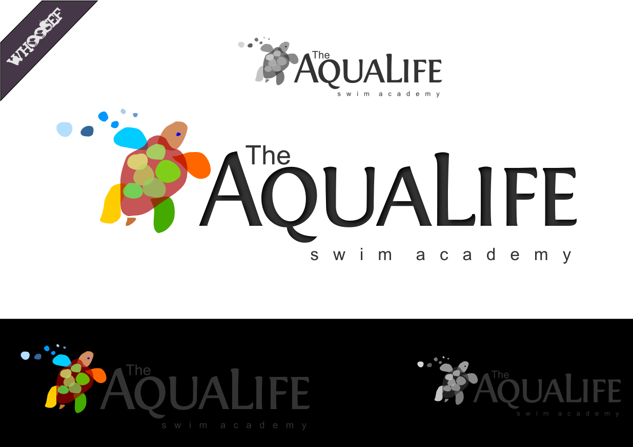 Logo Design by whoosef - Entry No. 83 in the Logo Design Contest Artistic Logo Design Wanted for The Aqua Life Swim Academy.