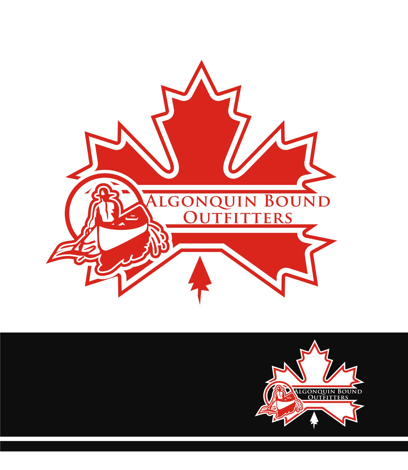 Logo Design by Private User - Entry No. 75 in the Logo Design Contest Captivating Logo Design for Algonquin Bound Outfitters.