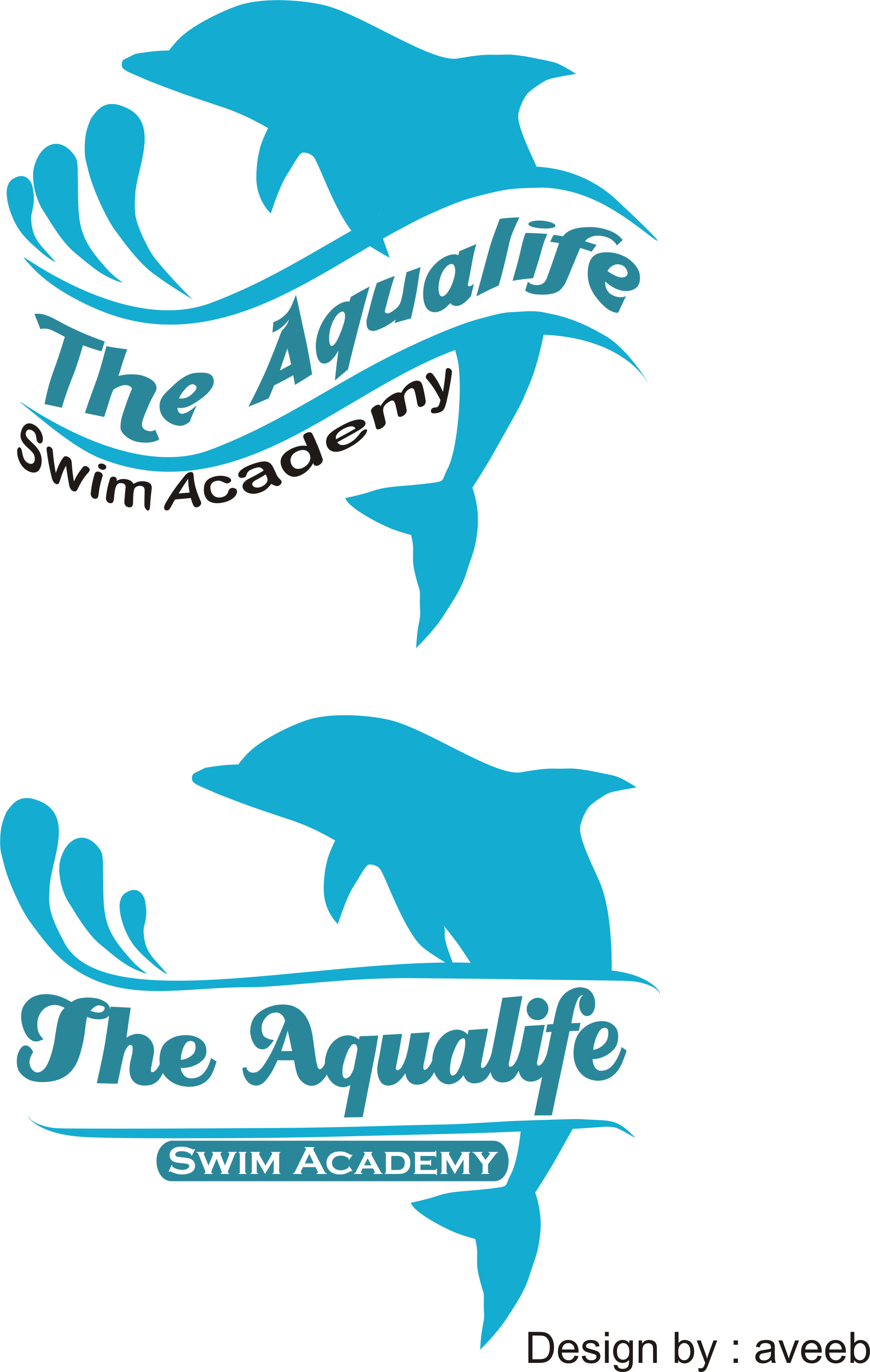 Logo Design by Aveeb Murdavein - Entry No. 92 in the Logo Design Contest Artistic Logo Design Wanted for The Aqua Life Swim Academy.