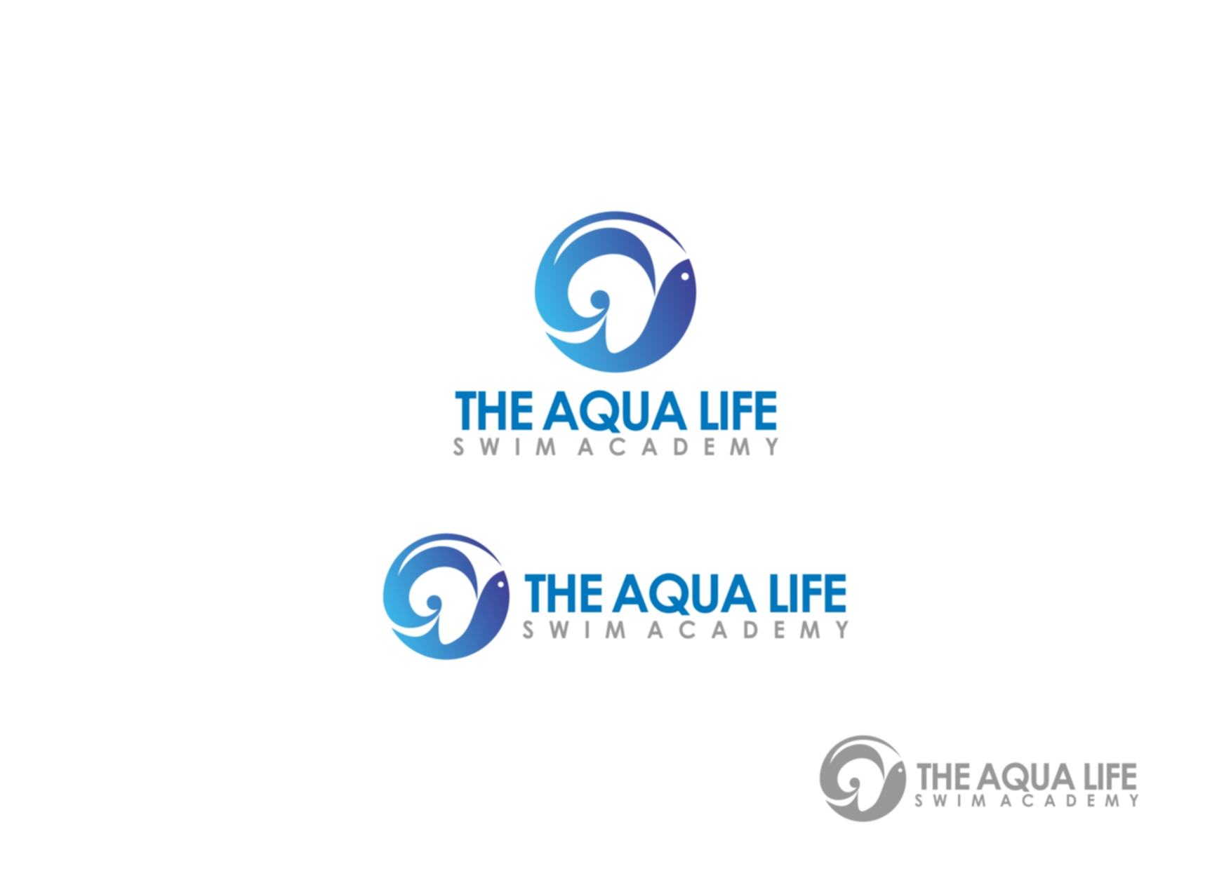 Logo Design by Private User - Entry No. 94 in the Logo Design Contest Artistic Logo Design Wanted for The Aqua Life Swim Academy.