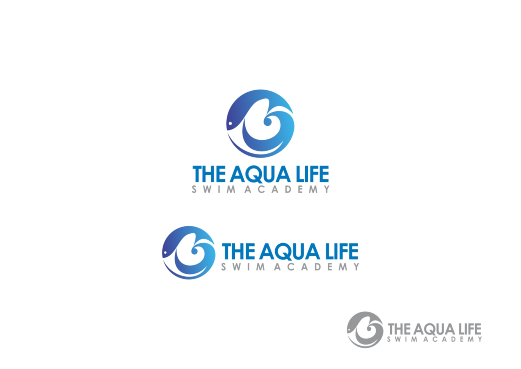 Logo Design by Private User - Entry No. 98 in the Logo Design Contest Artistic Logo Design Wanted for The Aqua Life Swim Academy.