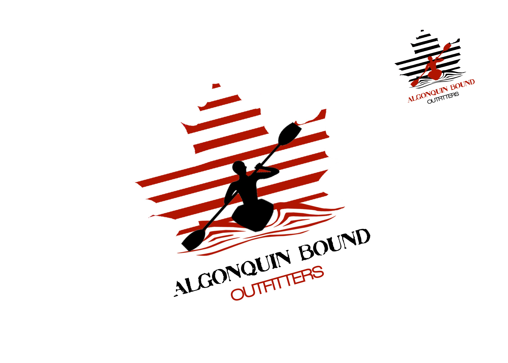 Logo Design by Lama Creative - Entry No. 79 in the Logo Design Contest Captivating Logo Design for Algonquin Bound Outfitters.