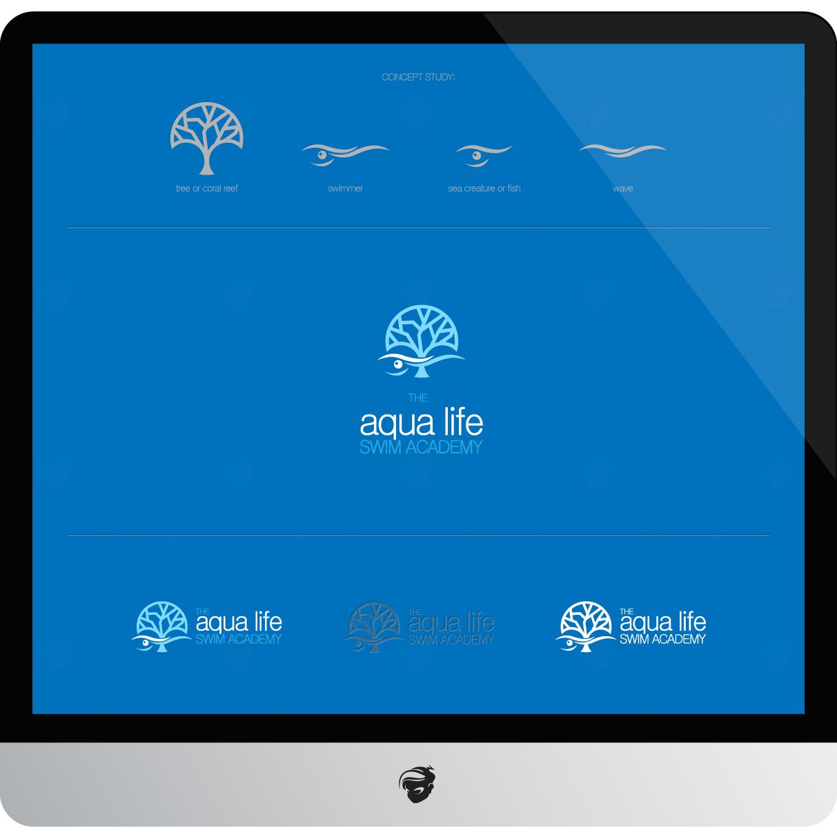 Logo Design by zesthar - Entry No. 105 in the Logo Design Contest Artistic Logo Design Wanted for The Aqua Life Swim Academy.