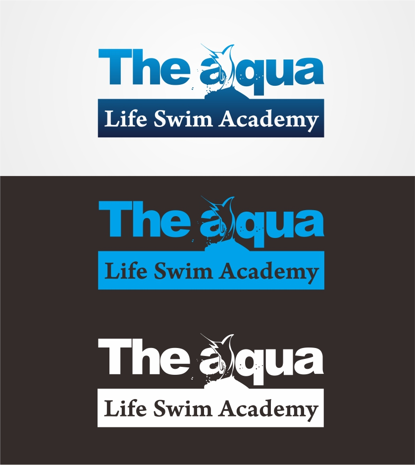 Logo Design by Muhammad Faris - Entry No. 109 in the Logo Design Contest Artistic Logo Design Wanted for The Aqua Life Swim Academy.