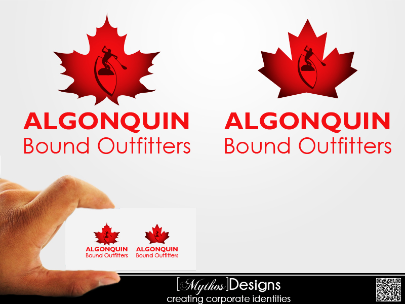 Logo Design by Mythos Designs - Entry No. 80 in the Logo Design Contest Captivating Logo Design for Algonquin Bound Outfitters.
