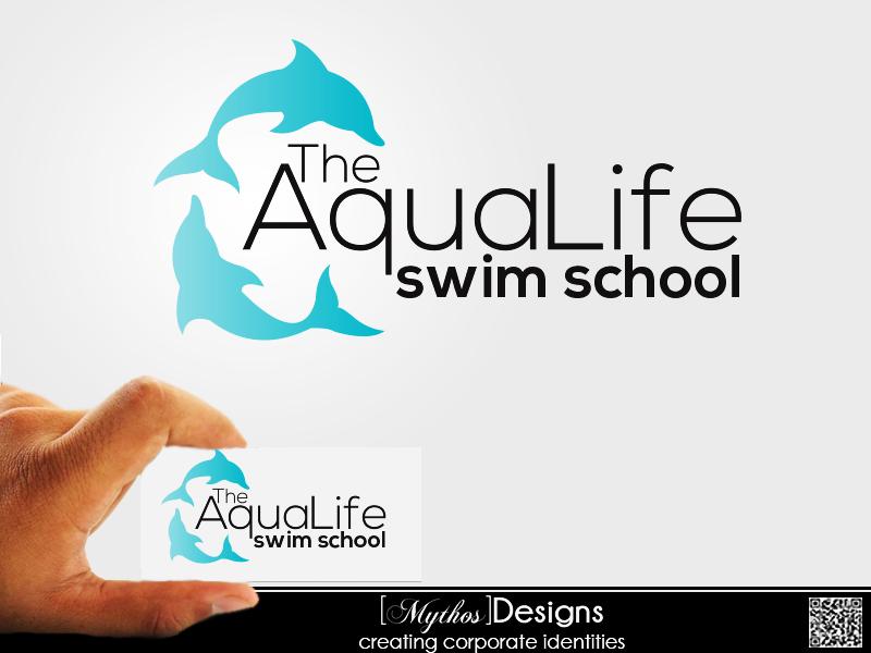 Logo Design by Mythos Designs - Entry No. 111 in the Logo Design Contest Artistic Logo Design Wanted for The Aqua Life Swim Academy.
