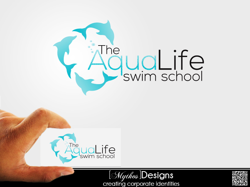 Logo Design by Mythos Designs - Entry No. 113 in the Logo Design Contest Artistic Logo Design Wanted for The Aqua Life Swim Academy.