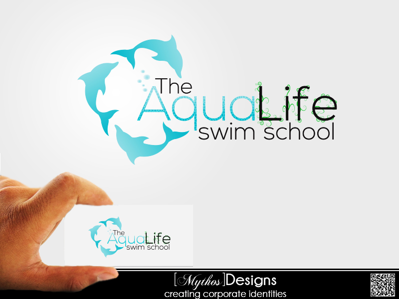 Logo Design by Mythos Designs - Entry No. 114 in the Logo Design Contest Artistic Logo Design Wanted for The Aqua Life Swim Academy.