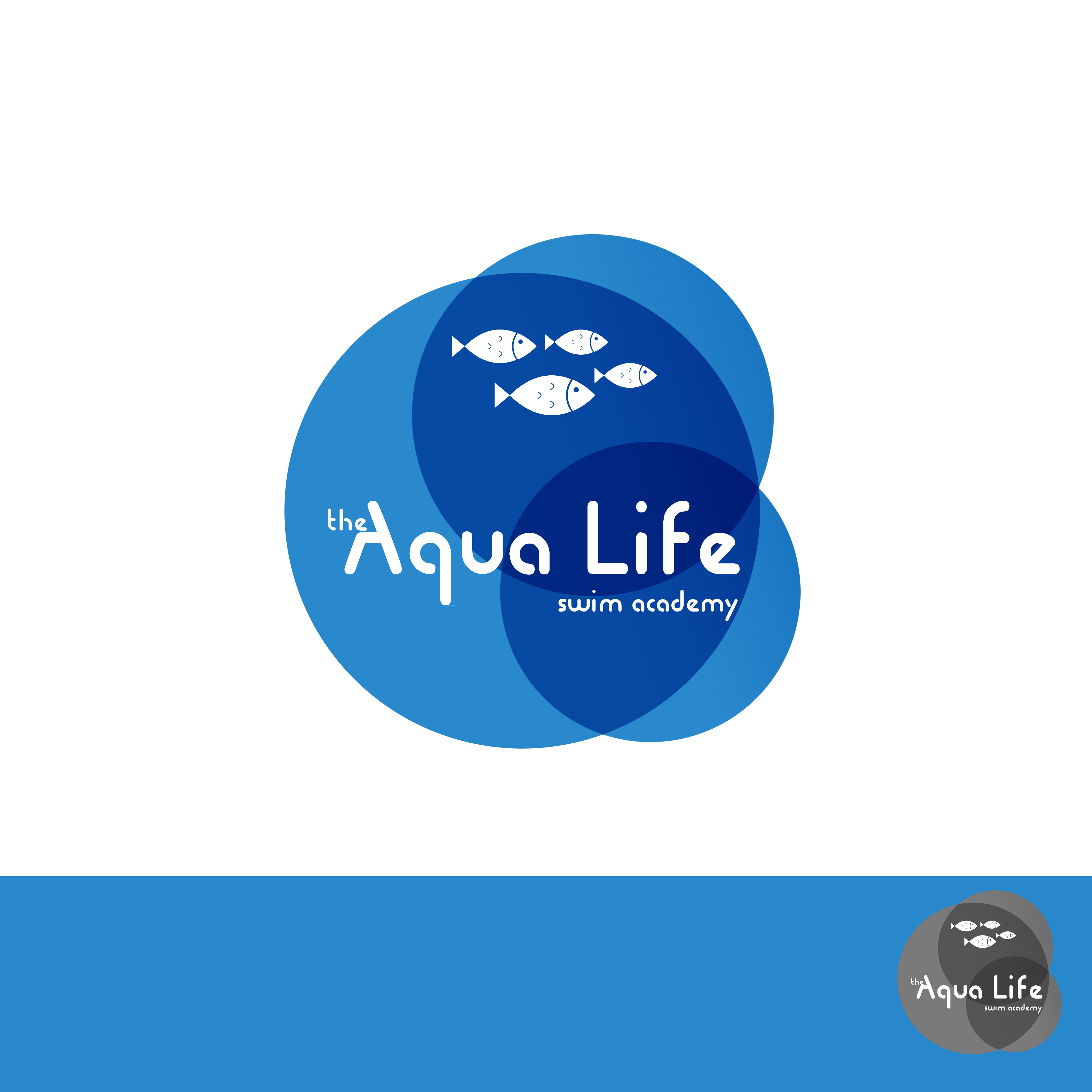 Logo Design by Utkarsh Bhandari - Entry No. 115 in the Logo Design Contest Artistic Logo Design Wanted for The Aqua Life Swim Academy.